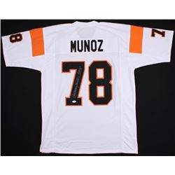 "Anthony Munoz Signed Cincinnati Bengals Jersey Inscribed ""HOF 98"" (JSA COA)"