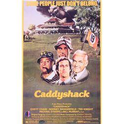 "Chevy Chase Signed ""Caddyshack"" 11x17 Movie Poster (Schwartz COA)"