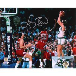 Larry Bird Signed Boston Celtics 8x10 Photo (Schwartz COA  Bird Hologram)