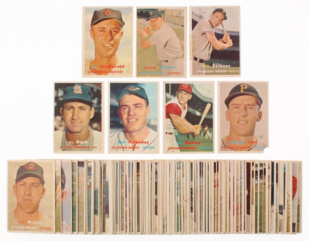 Lot Of 87 1957 Topps Baseball Cards With 367 Ed