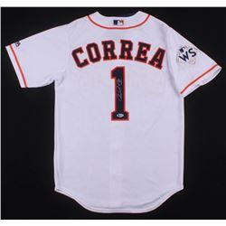 Carlos Correa Signed Houston Astros Jersey (Beckett COA)