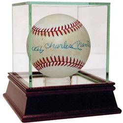 Mickey Charles Mantle Signed OAL Baseball with High Quality Display Case (Steiner COA)