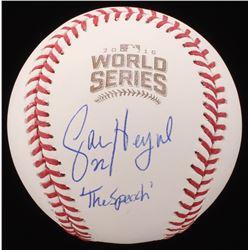 Jason Heyward Signed 2016 World Series Baseball Inscribed  The Speech  (Schwartz COA)