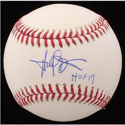 """Harold Baines Signed OML Baseball Inscribed """"HOF 19"""" (Schwartz COA)"""