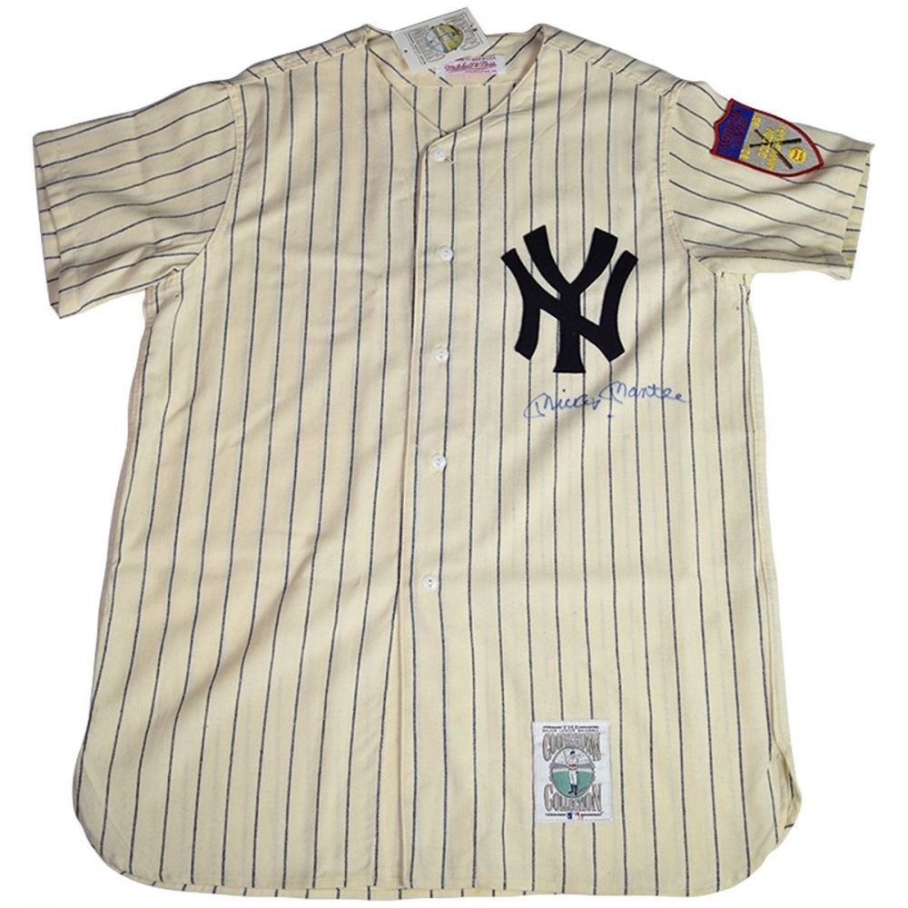 detailed look cb40e 4dccd Mickey Mantle Signed New York Yankees Mitchell Ness ...