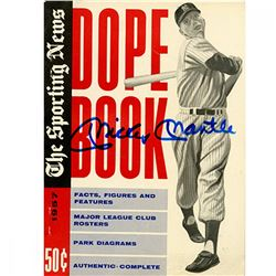 Mickey Mantle Signed 1957 The Sporting News Dope Book Magazine (JSA Hologram)