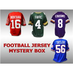 Schwartz Sports Football Superstar Signed Mystery Box Football Jersey  Series 15 - (Limited to 75)