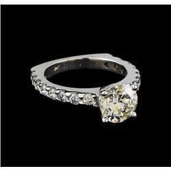 EGL Cert 3.49 ctw Diamond Ring - 14KT White Gold