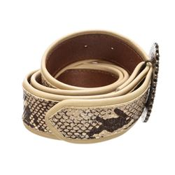 Dolce & Gabbana Snake Print Jewel Buckle Belt