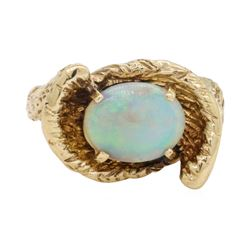 2.5 ctw Opal Ring - 14KT Yellow Gold
