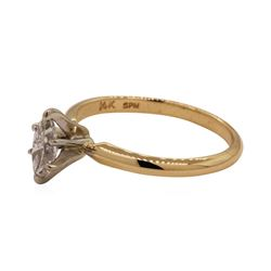 0.40 ctw Diamond Solitaire Ring - 14KT Yellow Gold