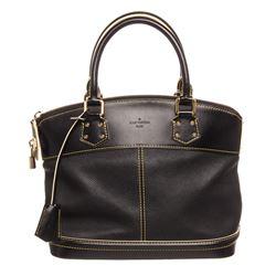 Louis Vuitton Black Suhali Leather Lockit PM Shoulder Bag