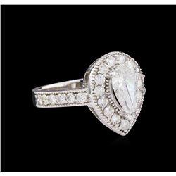 1.88 ctw Diamond Ring - 14KT White Gold