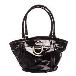 Gucci Black Patent Leather Small Tote Bag