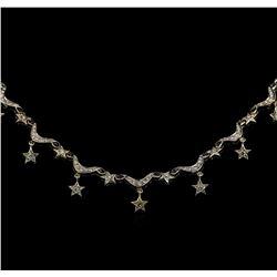 1.22 ctw Diamond Necklace - 14KT White Gold