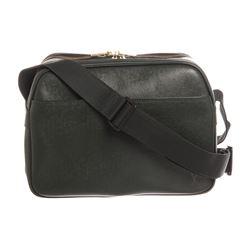 Louis Vuitton Green Taiga Leather Reporter PM Bag