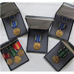 MILITARY MEDAL LOT- GOOD CONDUCT, NATIONAL