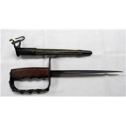 WWI US MODEL 1917 TRENCH KNIFE & SCABBARD BY LF&C