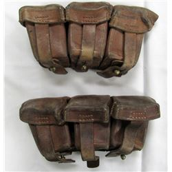 ORIGINAL WWI GERMAN LEATHER AMMO POUCHES