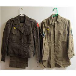 WWII US ARMY SERVICE DRESS UNIFORM WITH 45TH