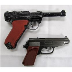 2- VINTAGE WWII ERA REPLICA TOY CAP GUNS!