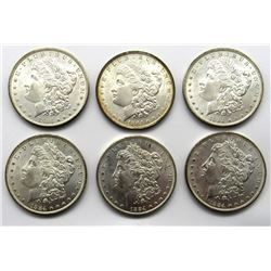 6-1884-O MORGAN SILVER DOLLARS