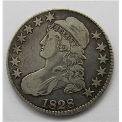 1828 CAPPED BUST HALF DOLLAR F/VF