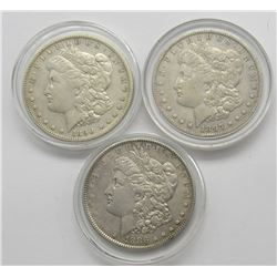3-VG/F MORGAN DOLLARS: 1886, 1897-O,