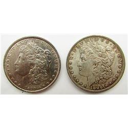 1890 & 1896 MORGAN DOLLAR AU