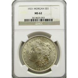 1921 MORGAN DOLLAR NGC MS62