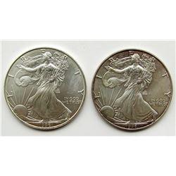 1996 & 1996 AMERICAN SILVER EAGLES
