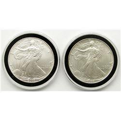 2007 & 1994 AMERICAN SILVER EAGLES