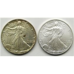2003 & 1987 AMERICAN SILVER EAGLES