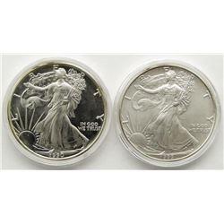 1993 & 1990 AMERICAN SILVER EAGLES
