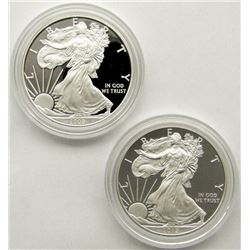 2008 & 2012 PROOF AMERICAN SILVER EAGLES