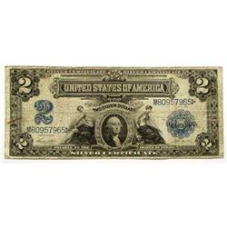 1899 2 DOLLAR SILVER CERTIFICATE