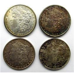 4-MORGAN DOLLARS:  1899-O, '89, 1904-O, '21