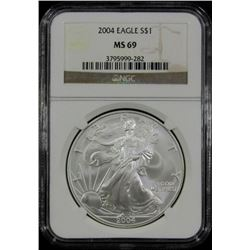 2004 AMERICAN SILVER EAGLE NGC MS 69