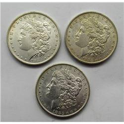 3-1883-O MORGAN SILVER DOLLARS