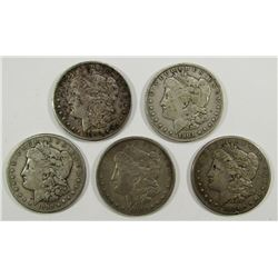 5-CIRC MORGAN DOLLARS;