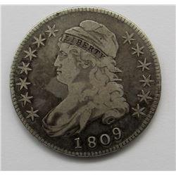1809 CAPPED BUST HALF DOLLAR VG+