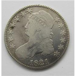 1821 CAPPED BUST HALF DOLLAR VG