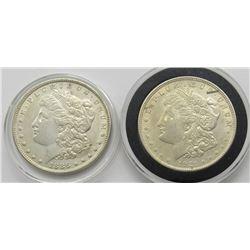 2-XF MORGAN DOLLARS: 1886 & 1921