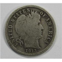 1913- BARBER DIME