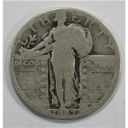 1927-S T1 STANDING LIBERTY QUARTER- GOOD