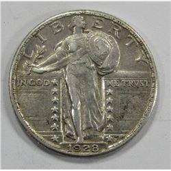 1928 STANDING LIVERTY QUARTER- XF/AU