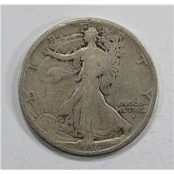 1916-S WALKING LIBERTY HALF DOLLAR AG/G