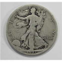 1921-S WALKING LIBERTY HALF DOLLAR - GOOD