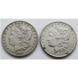 1900 UNC & 1897-S FINE MORGAN DOLLARS