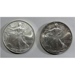 1993 & 2005 AMERICAN SILVER EAGLES
